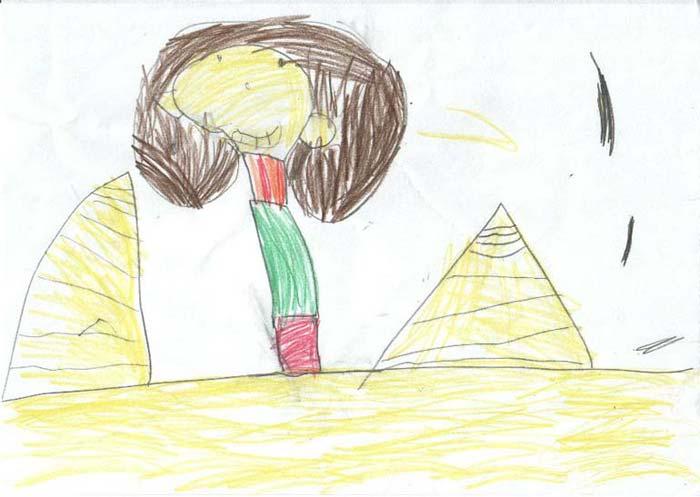 La Reina Nefertari en las pirámides
