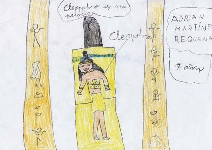 Cleopatra y su palacio