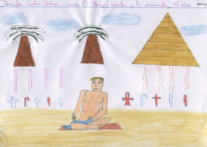 Escriba y la pirámide