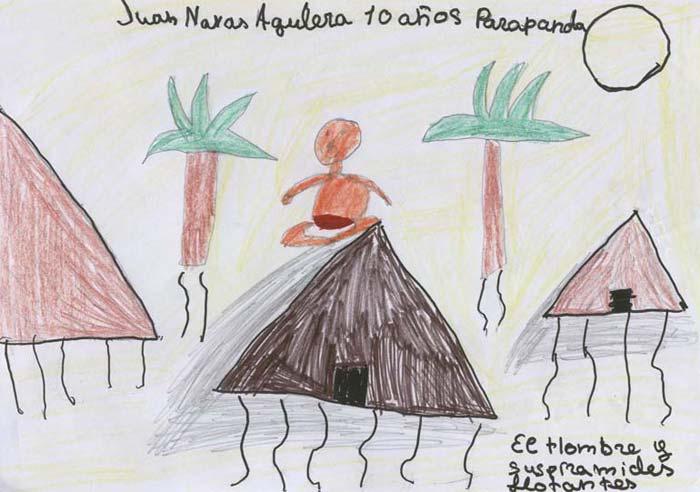 El hombre y sus pirámides flotantes