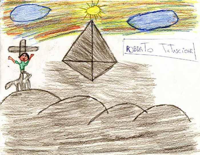 Hombre con sombrero en un camello paseando cerca de la pirámide de Keops