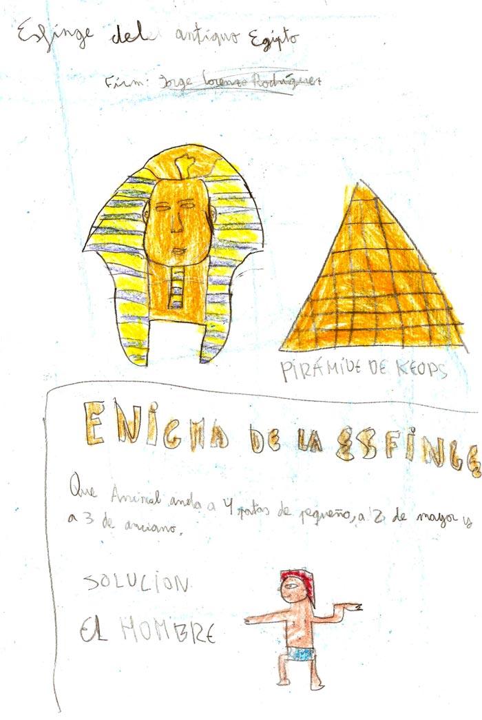 Esfinge del antiguo Egipto